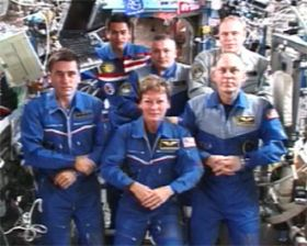 ISS Expedition Crews Working Together