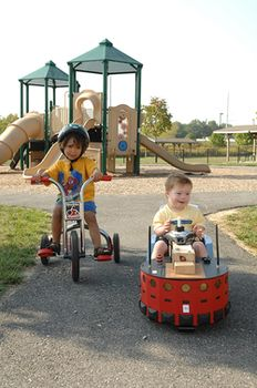 Babies learn to ride robots at UD
