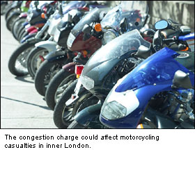 Congestion Charge: potentially unsafe for motorcyclists, claim researchers