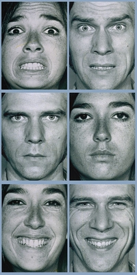 People identify fearful faces before happy ones