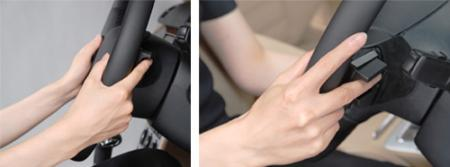 Finger vein authentication technology embedded on the steering wheel