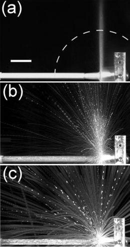 Granular-jet Fireworks