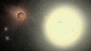 Largest transiting extrasolar planet found around a distant star