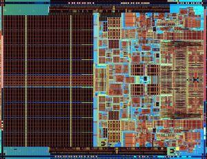 Intel Core 2 Extreme mobile processor die