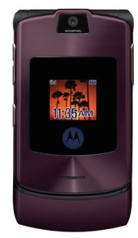 Motorola Debuts MOTORAZR V3i in Purple