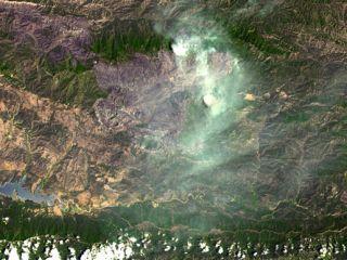 NASA Sees Santa Barbara Wildfires