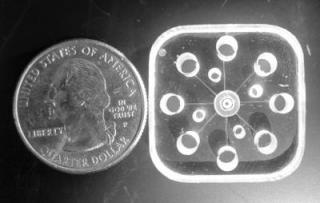 New Miniaturized Device for Lab-on-a-Chip Separations
