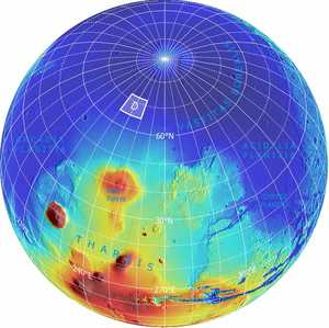 Planned landing site for NASA's Phoenix Mars Lander