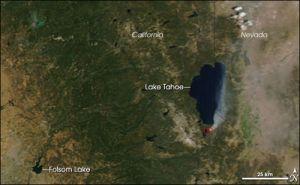 Strong Winds Fan Flames in Lake Tahoe Fire