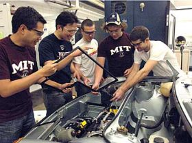 Students take Porsche to electric avenue