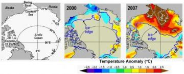 Summer Sea Surface Temperatures Increase