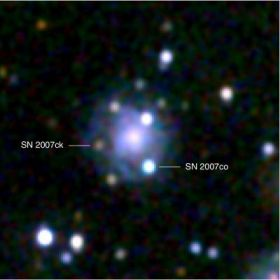 Swift sees double supernova in galaxy