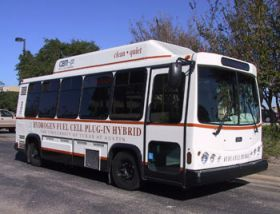Texas' first hydrogen fuel cell bus on the road