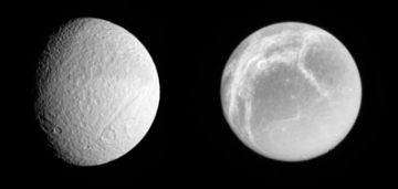 Two more active moons around Saturn