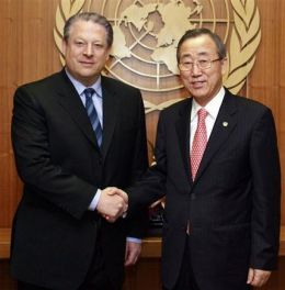 U.N. Chief Backs Gore on Climate Change (AP)