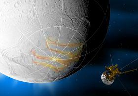 Cassini Prepares to Swoop by Saturn's Geyser-Spewing Moon