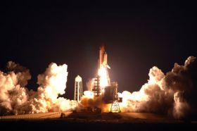 Endeavour Launches Into Night, Set to Expand Space Station