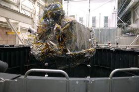 NASA's Next Moon Mission Begins Thermal Vacuum Test