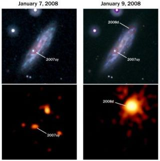 Swift satellite catches first 'normal' supernova in the act of exploding