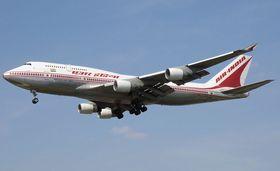 A Boeing 747 passenger plane