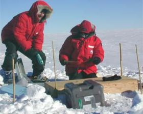 Data show Antarctic ice stream radiating seismically