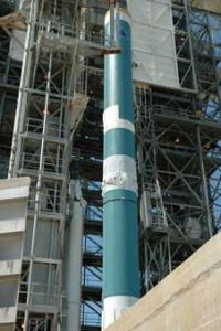 Delta II Rocket Coming Together for NASA's GLAST Satellite Launch