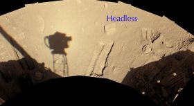 'Headless' Chosen for Attempt to Move a Martian Rock