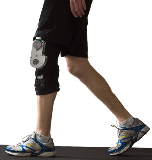 Knee brace generates electricity from walking