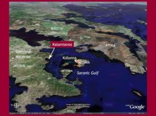 Location of the Korphos-Kalamianos Site