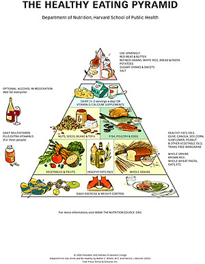 New pyramid puts oil, exercise, poultry in their place