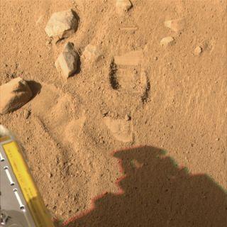 Phoenix Scoops Up Martian Soil