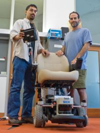 Robot wheelchair finds its own way