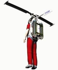 Strap-on helicopter