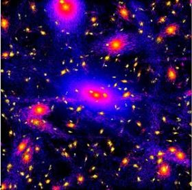 Study shows clumps and streams of dark matter in inner regions of the Milky Way