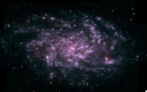 Swift satellite images a galaxy ablaze with starbirth