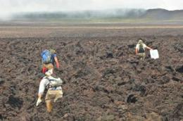 Hiking, horses and helicopter: Scientists deploy seismic network for study of Sierra Negra, Galapagos