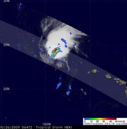 NASA gets a 3-D look at Neki becoming extra-tropical