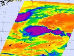 NASA's Terra and Aqua satellites see Nida fading, and 97W getting organized