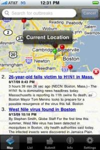 New iPhone app 'Outbreaks Near Me' locates H1N1 (swine flu), infectious diseases