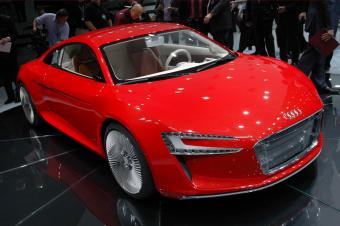 The Audi e-tron concept electric car
