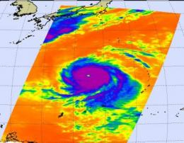 Two NASA satellites capture monster Super Typhoon Melor