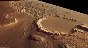 Mars: Chaotic terrain between Kasei Valles and Sacra Fossae