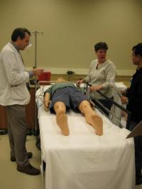 Next generation of health care workers train through medical simulation