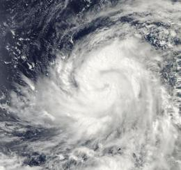 NASA satellite tracking Typhoon Lupit on a march toward the northern Philippines