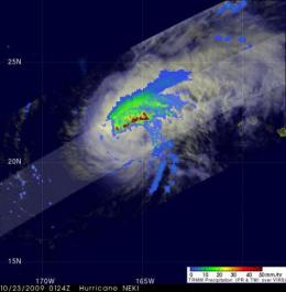 NASA satellite still sees heavy rainfall in Tropical Storm Neki