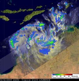 Tropical Cyclone Laurence menaces Northern Australia