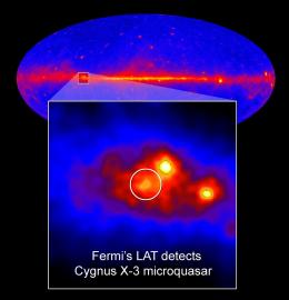 Fermi Telescope Peers Deep into Microquasar