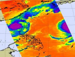 NASA's Aqua Satellite sees Tropical Storm Parma lingering in the Luzon Strait