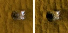 Scientists see water ice in fresh meteorite craters on Mars