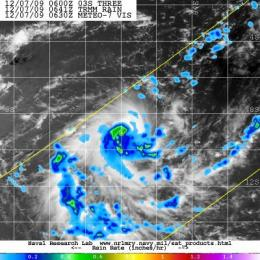 NASA's TRMM satellite sees Tropical Storm Cleo form in southern Indian Ocean